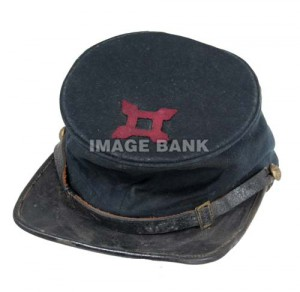 CWc129d- Union forage cap with 10th Corps badge