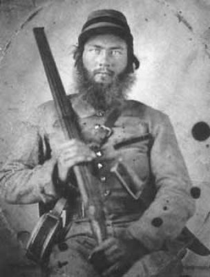 Confederate Soldier with shotgun