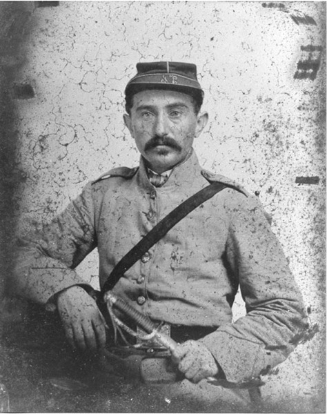 Confederate soldier Leon Fischel from Vicksburg Mississippi Photograph circa 1861