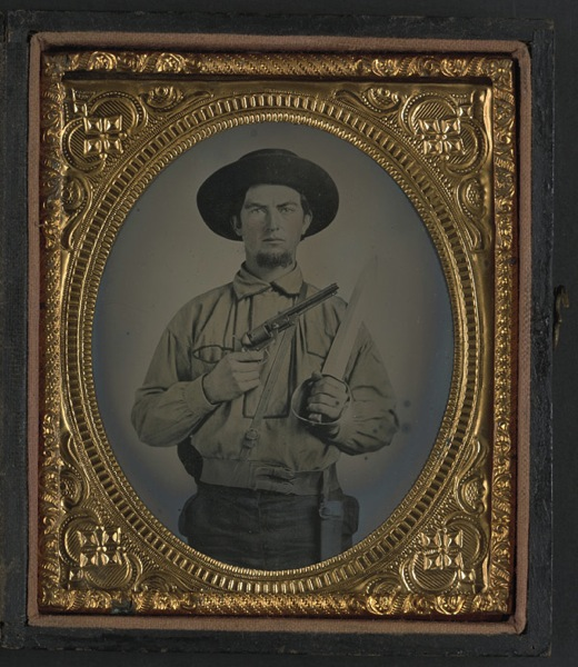 Confederate with colt revolver