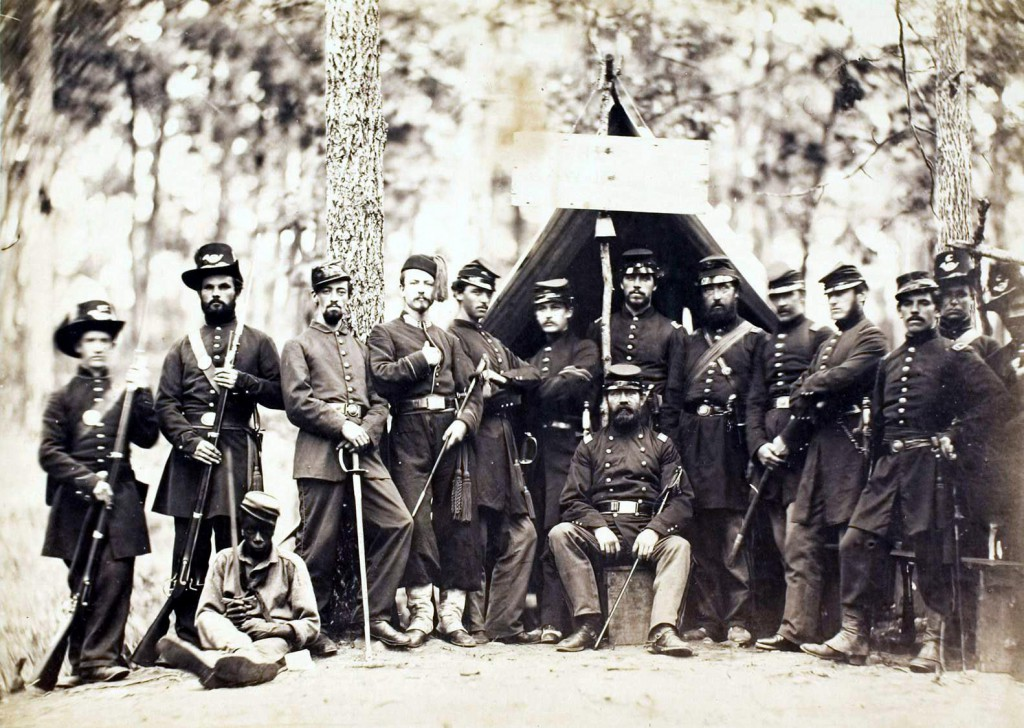 9th Massachusetts Infantry at Camp Cass, 1861. An Irish regiment.