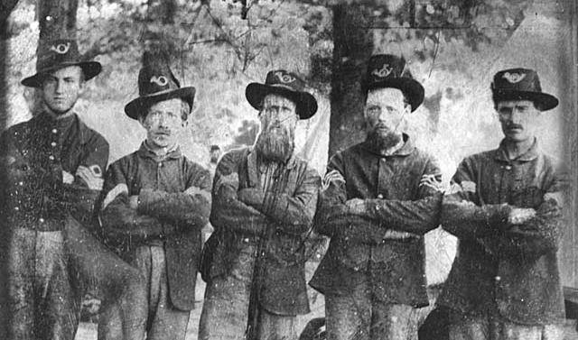 NCO's from the Company F 3rd Minnesota Infantry at Nashville, 1862