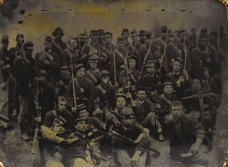 Group of Union soldiers just before Chickamauga