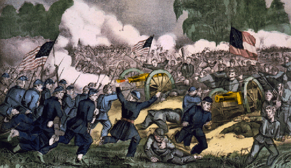 Battle of Gettysburg by Currier and Ives