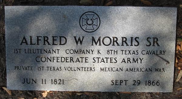 Morris Alfred W marker1