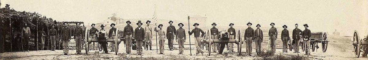 20th Indiana Battery outside Chattanooga, TN. 1864