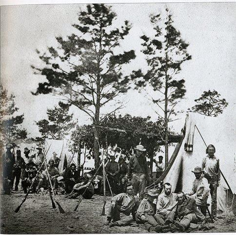 9th Mississippi Infantry in camp in Pensacola, Florida