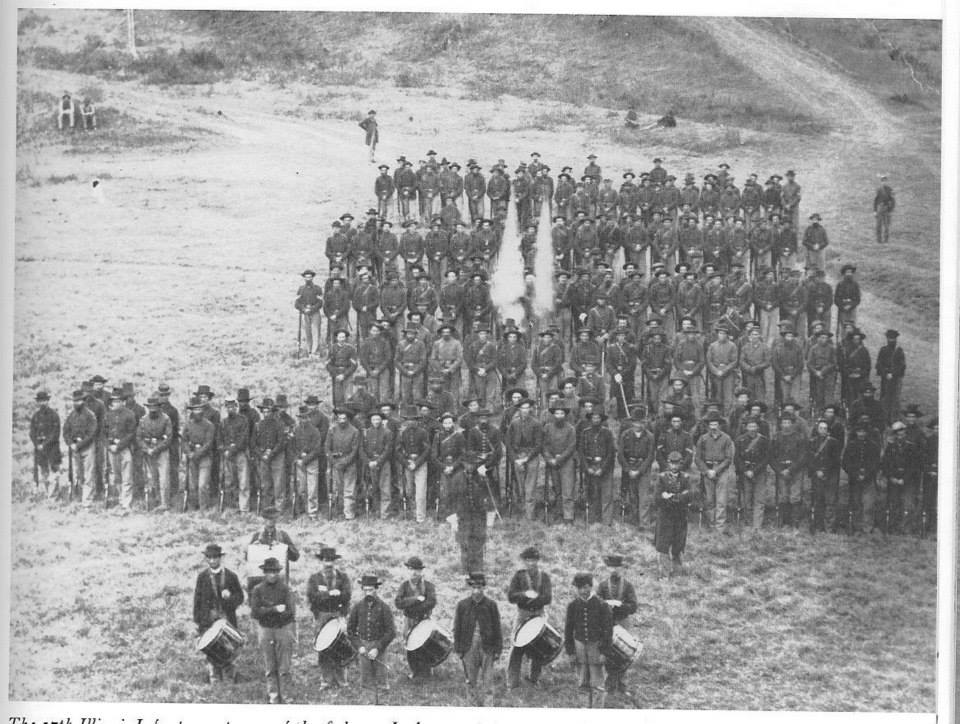 The 17th Illinois Infantry while on garrison duty at Vicksburg on September 8, 1863