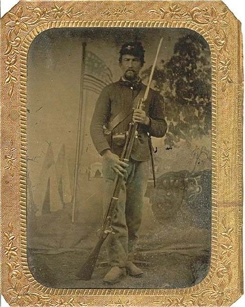 Private George Philo Smith, was wounded at Gettysburg on July 1, 1863, and escaped capture behind enemy lines in the area of Blocher's Run. He was a member of Company D of the 157th New York Infantry Regiment