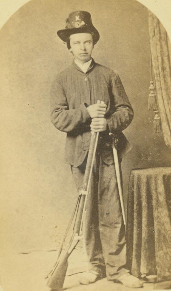 John J. Weber, Private, Company K, 2nd Missouri Volunteer Infantry Regiment [Laibolt's Brigade, Sheridan's Division, McCook's Corps