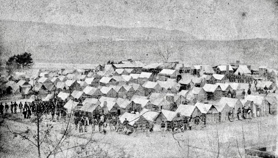 The 18th Ohio Infantry Winter Camp at Chattanooga
