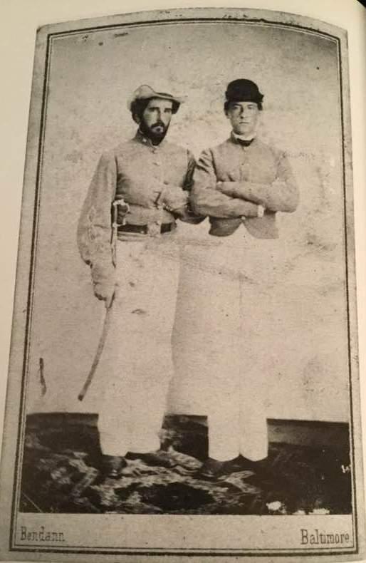 Left is Daniel Shriver l, Capt. Of the 27th Va. Co G Shriver grays. Samuel Shriver on the right was a VMI Cadet