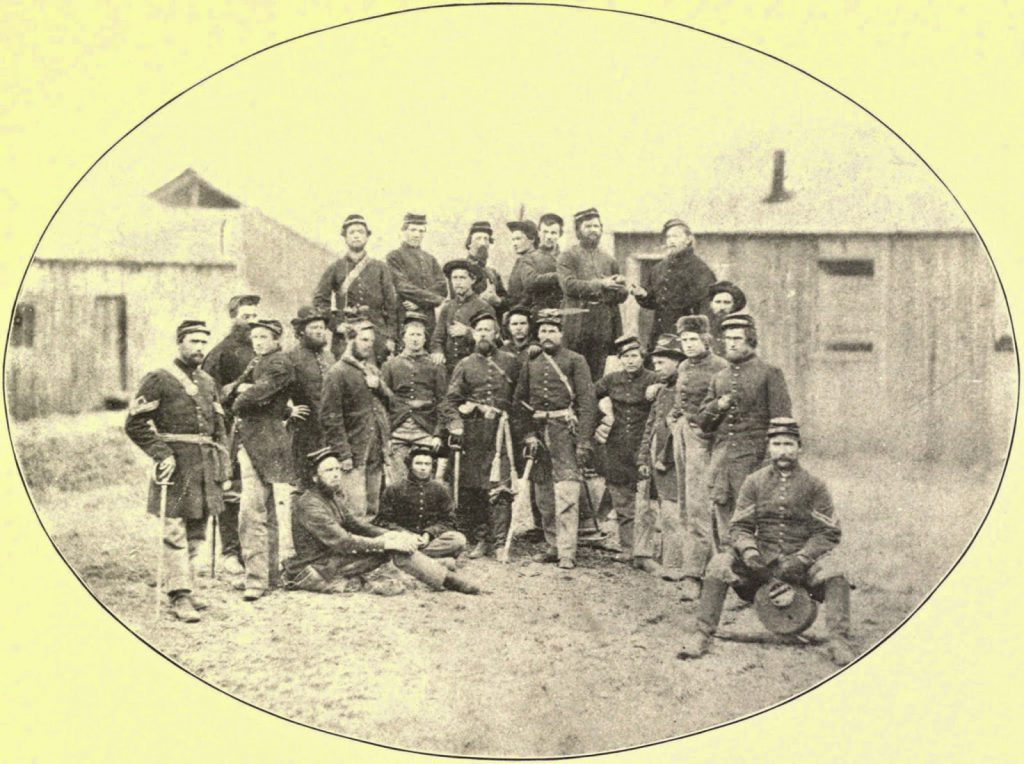 14th Iowa Volunteer Infantry Regiment Photographed Probably After Being Paroled From Libby Prison (1862)