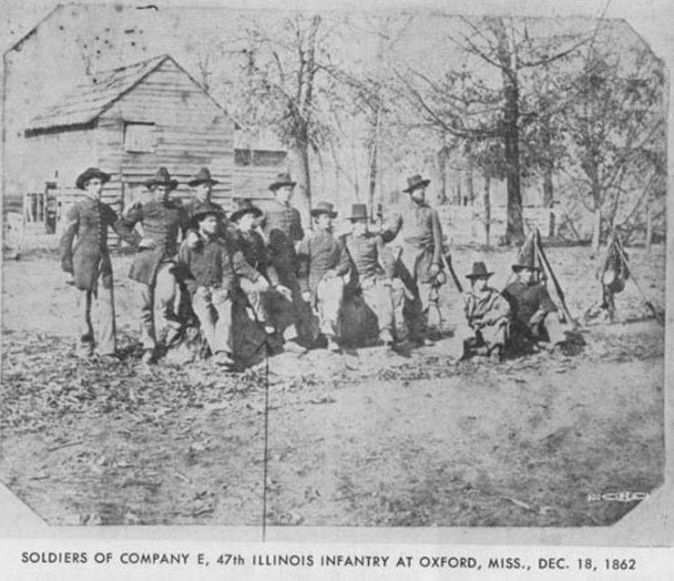 47th Illinois Infantry, Oxford MS, Dec 1862