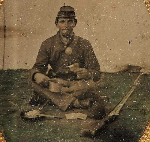 A soldier from the 122nd New York Infantry (6th Corps)