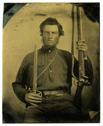 James Bell Hollis Sr. of Cannon County, Tennessee. Hollis served in Company G, of Smith's 8th Tennessee Cavalry CSA.