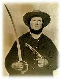 Private Mitchell Copeland of Overton County, Tennessee; Co. D, 25th Tennessee Infantry Regiment. He was killed at the Battle of Chickamauga, Sept. 19, 1863.